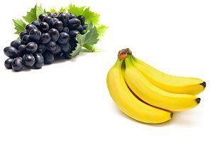 Поєднання винограду і банана